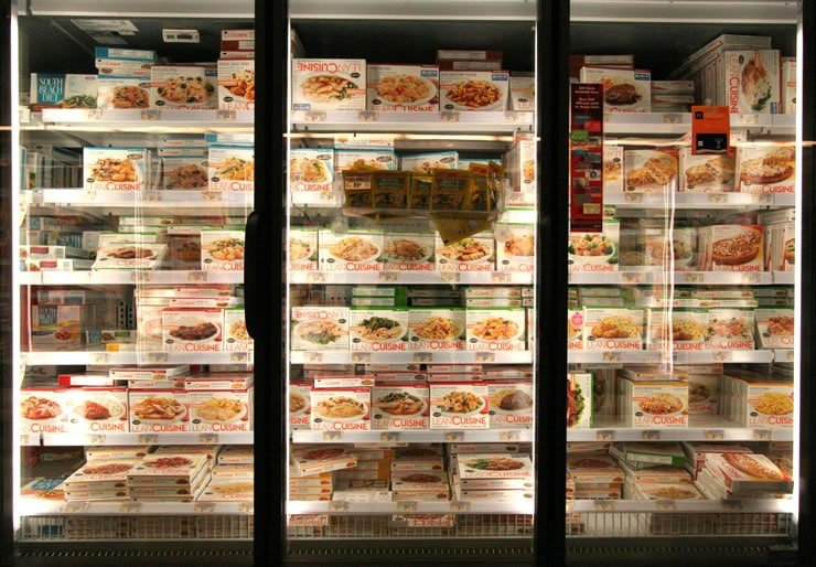 "Freezer full of ultra-processed ""Lean Cuisine"""