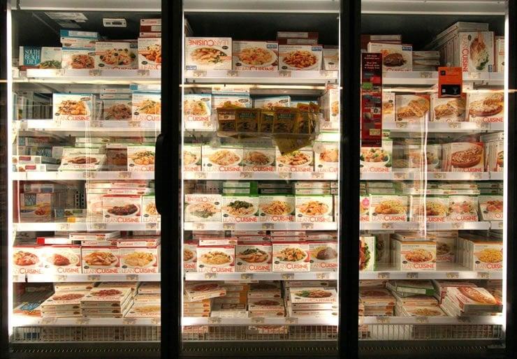 "Freezer full of ultra-processed ""Lean Cuisine"""