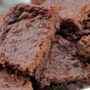 Vegan Double-Chocolate Espresso Zucchini Brownies