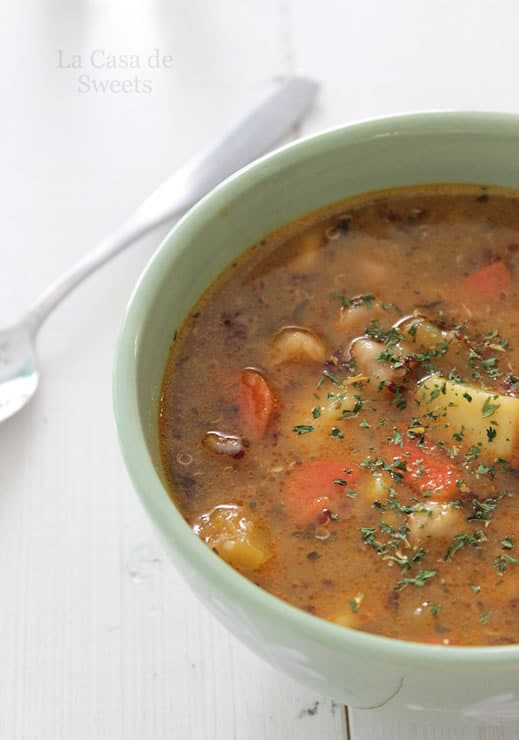 soup with gruyere croutons lentil and sausage soup for a cold winter s ...