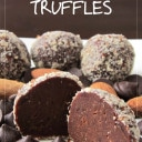 Healthy Dairy Free Chocolate Almond Truffles