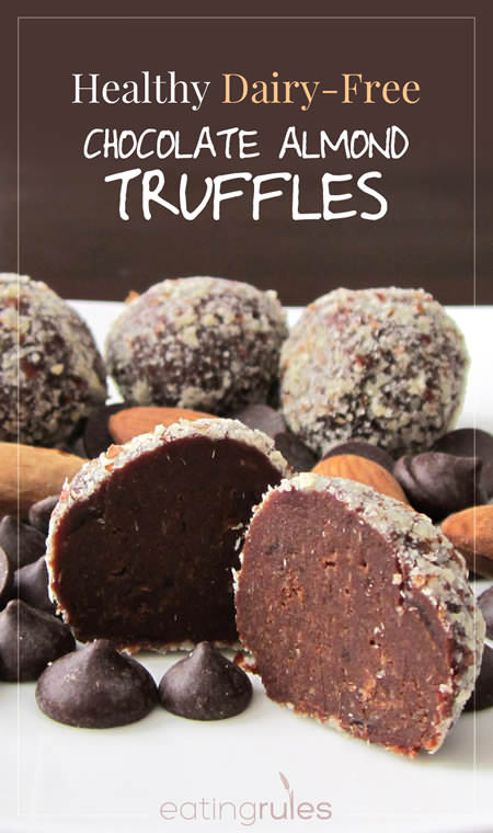 Healthy Dairy Free Chocolate Almond Truffles