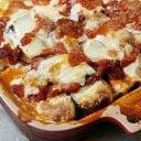 Low-carb eggplant parmesan casserole