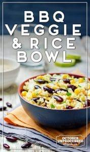 bbq veggie rice bowl