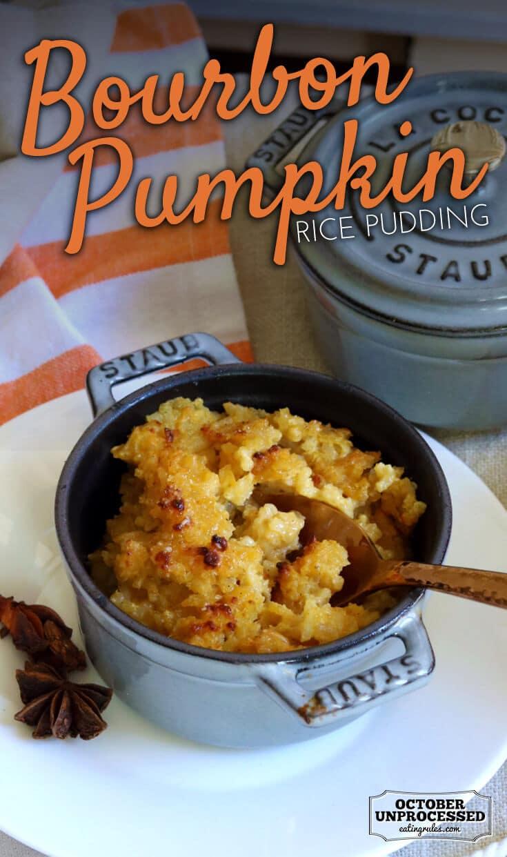 bourbon pumpkin rice pudding