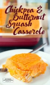 chickpea and butternut squash casserole