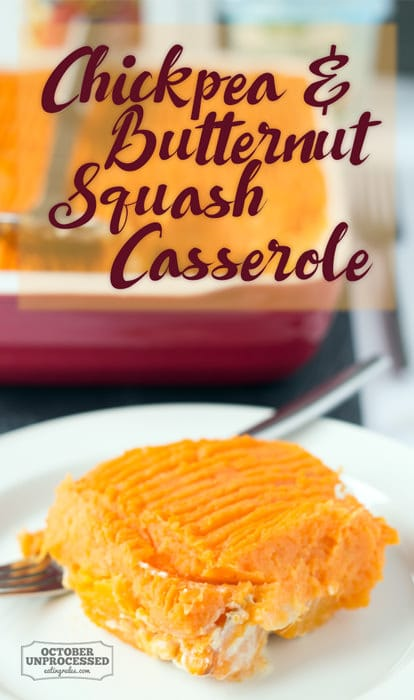 chickpea and butternut squash casserole