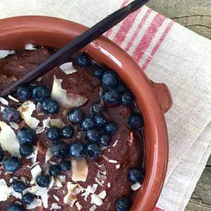 creamy coconut teff porridge