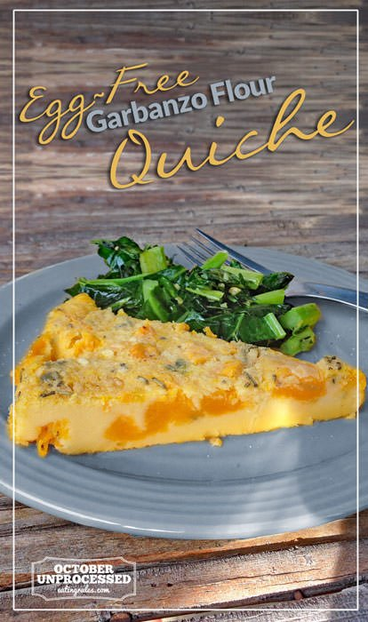 Egg-Free Garbanzo Flour Quiche