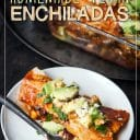 homemade vegan enchiladas