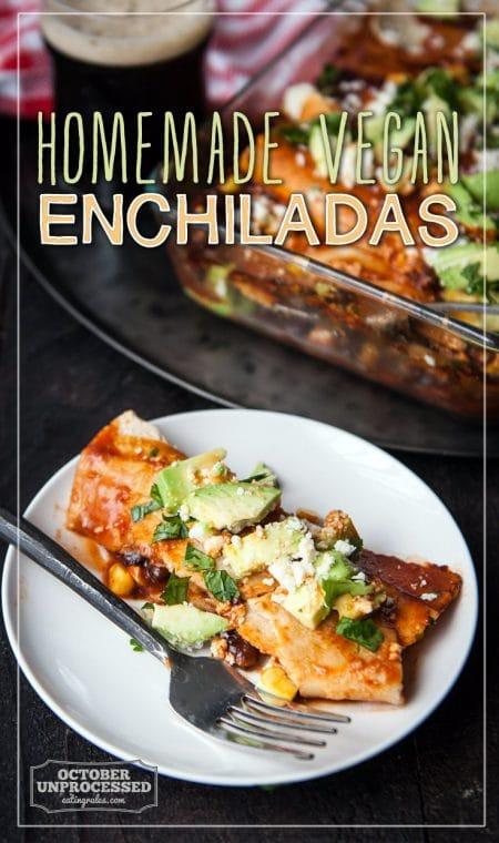 homemade vegan enchiladas