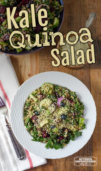 Massaged Kale and Quinoa Salad Recipe