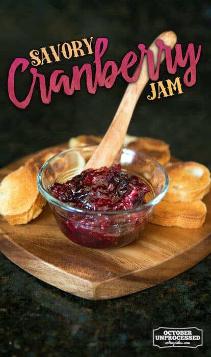 savory cranberry jam
