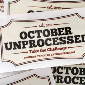 October Unprocessed Stickers