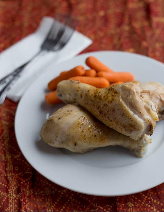 chicken and carrots