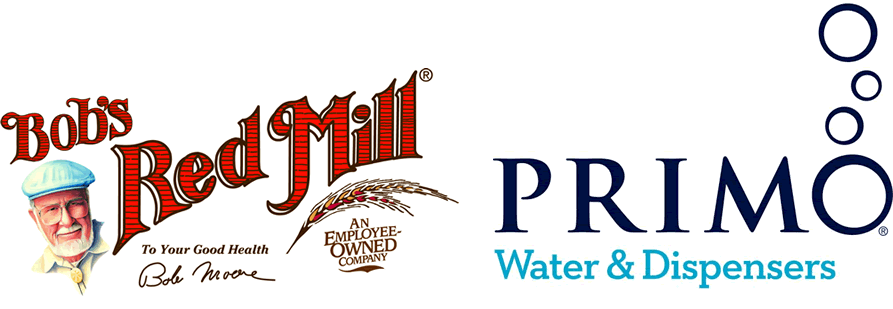 Bob's Red Mill & Primo Water Logos
