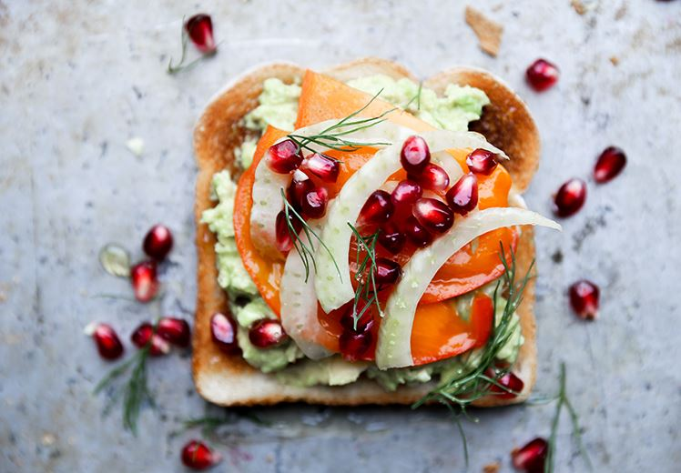 Avocado Persimmon Toast