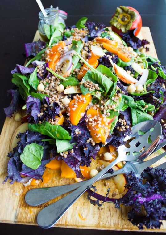 Buckwheat Persimmon Salad Recipe