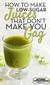 low sugar juice