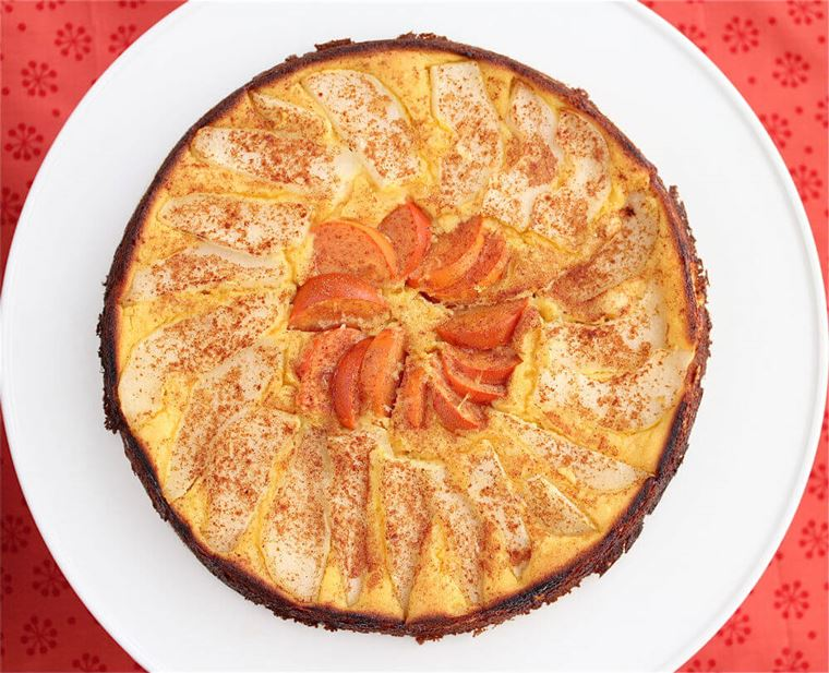 Orange Pear and Persimmon Cake