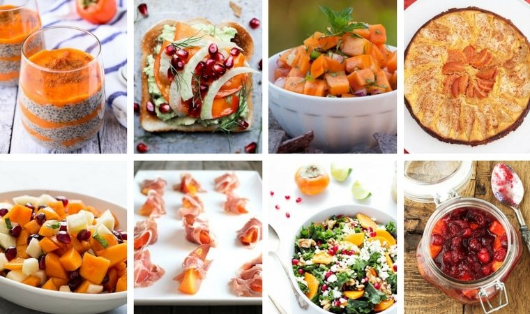 Thumbnails of persimmon recipes