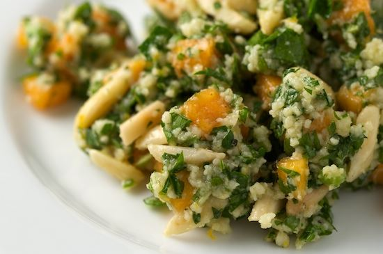 Tabboulet Salad with Pesimmons and Almonds
