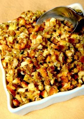 Thanksgiving Stuffing with Persimmon